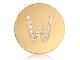 Nikki Lissoni Gold-tone 23.6mm Swarovski® Elements Initial W Coin style: C1262GSW