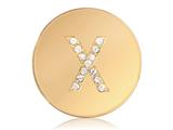 Nikki Lissoni Gold-tone 23.6mm Swarovski® Elements Initial X Coin style: C1262GSX