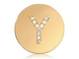 Nikki Lissoni Gold-tone 23.6mm Swarovski® Elements Initial Y Coin style: C1262GSY