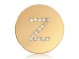 Nikki Lissoni Gold-tone 23.6mm Swarovski® Elements Initial Z Coin style: C1262GSZ