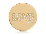 Nikki Lissoni Gold-tone 33mm Golden Love With Swarovski® Elements Coin style: C1263GM