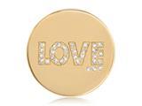 Nikki Lissoni Gold-tone 33mm Golden Love With Swarovski® Elements Coin style: C1263GM