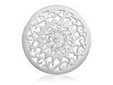 Nikki Lissoni Silver-tone 33mm Swarovski Diamonds Are A Girls Coin style: C1264SM