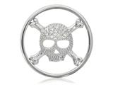 Nikki Lissoni Silver-tone 33mm Skull With Swarovski® Elements Coin style: C1267SM