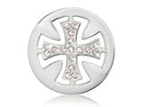 Nikki Lissoni Silver-tone 23.6mm Celtic Cross With Swarovski® Elements Coin style: C1284SS