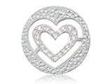Nikki Lissoni Silver-tone 23.6mm Small Heart With Swarovski® Elements Coin style: C1285SS