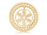 Nikki Lissoni Gold-tone 33mm Golden Snowflake With Swarovski® Elements Coin style: C1288GM
