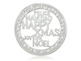 Nikki Lissoni Silver-tone 43mm Happy Xmas With Swarovski® Elements Coin style: C1289SL