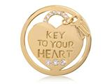 Nikki Lissoni Gold-tone 33mm Key To Your Heart With Swarovski® Elements Coi style: C1290GM