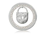 Nikki Lissoni Silver-tone 33mm Lock Dangle With Swarovski® Elements Coin style: C1292SM