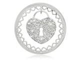 Nikki Lissoni Silver-tone 43mm Lock With Swarovski® Elements Coin style: C1293SL