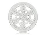 Nikki Lissoni Silver-tone 33mm Snowflake With Swarovski® Elements Coin style: C1300SM