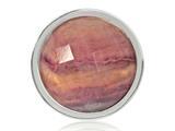 Nikki Lissoni Silver-tone 23.6mm Purple Flurite Coin style: C1308SS