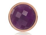 Nikki Lissoni Rose-tone 23.6mm Dyed Lavender Quartz Coin style: C1312RGS