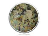 Nikki Lissoni Silver-tone 33mm Turquoise Nevada Coin style: C1320SM