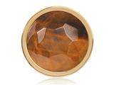 Nikki Lissoni Gold-tone 23.6mm Tiger Eye Coin style: C1322GS