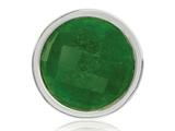 Nikki Lissoni Silver-tone 23.6mm Dyed Green Quartz Coin style: C1323SS