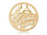 Nikki Lissoni Gold-tone 33mm Paris Dangle Coin style: C1331GM