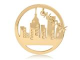 Nikki Lissoni Gold-tone 33mm New York Dangle Coin style: C1333GM