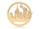 Nikki Lissoni Gold-tone 33mm New York Dangle Coin style: C1333GM