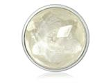 Nikki Lissoni Silver-tone 33mm Rock Crystal Quartz Coin style: C1361SM