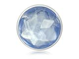 Nikki Lissoni Silver-tone 33mm Faceted Light Blue Glass Coin style: C1367SM