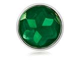 Nikki Lissoni Silver-tone 33mm Faceted Emerald Green Glass Coin style: C1371SM