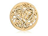 Nikki Lissoni Gold-tone 43mm Swarovski Lovely Roses Coin style: C1379GL