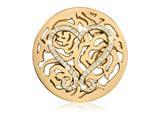 Nikki Lissoni Gold-tone 43mm Swarovski Lovely Roses Coin style: C1379GL