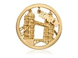 Nikki Lissoni Gold-tone 33mm London Dangle Coin style: C1382GM