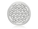 Nikki Lissoni Silver-tone 33mm Swarovski Crystal Maze Coin style: C1389SM
