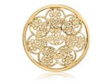 Nikki Lissoni Gold-tone 43mm Daisies Coin style: C1392GL