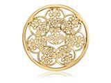 Nikki Lissoni Gold-tone 43mm Daisies Coin style: C1392GL
