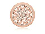 Nikki Lissoni Rose-tone 33mm Swarovski Baroque Freedom Coin style: C1395RGM