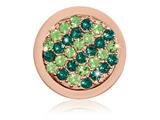 Nikki Lissoni Rose-tone 23.6mm Fashionable Green Swarovski Coin style: C1397RGS