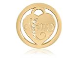 Nikki Lissoni Gold-tone 23.6mm Clear Swarovski Mom Coin style: C1398GS
