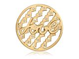 Nikki Lissoni Gold-tone 43mm Swarovski S Tribute To Love Coin style: C1404GL