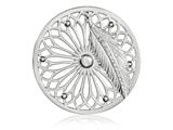 Nikki Lissoni Silver-tone 43mm Dreamcatcher Dangle Coin style: C1405SL
