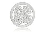Nikki Lissoni Silver-tone 23.6mm Swarovski Sparkling Curl Fantasy Coin style: C1412SS