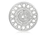 Nikki Lissoni Silver-tone 43mm Swarovski Inner Power Coin style: C1414SL