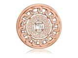 Nikki Lissoni Rose-tone 43mm Swarovski Sparkling Links Coin style: C1415RGL