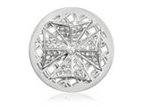 Nikki Lissoni Silver-tone 33mm Swarovski Celtic Cross Coin style: C1418SM