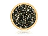 Nikki Lissoni Gold-tone 23.6mm Black and Topaz Rock Swarovski Crystalcoin style: C1423GS