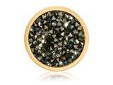 Nikki Lissoni Gold-tone 23.6mm Black and Topaz Rock Swarovski Crystalcoin style: C1423GS