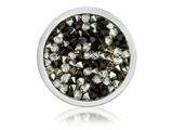 Nikki Lissoni Silver-tone 23.6mm Blk/ Wh Rock Swarovski Crystal Coin style: C1424SS