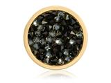 Nikki Lissoni Gold-tone 23.6mm Black Rock Swarovski Crystal Coin style: C1425GS