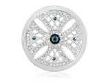 Nikki Lissoni Silver-tone 33mm Swarovski Something Blue Coin style: C1456SM