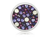 """Nikki Lissoni Silver-tone 33mm Red, White, Blue Xilion Swarovski Coin"""" style: C1466SM"""