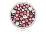 Nikki Lissoni Silver-tone 33mm Coral Red and White Xilion Swarovski Coin style: C1475SM