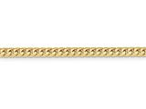 24 Inch 14k 4.3mm Domed Curb Chain style: DCU14024